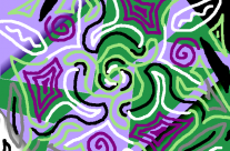 purple and green layers